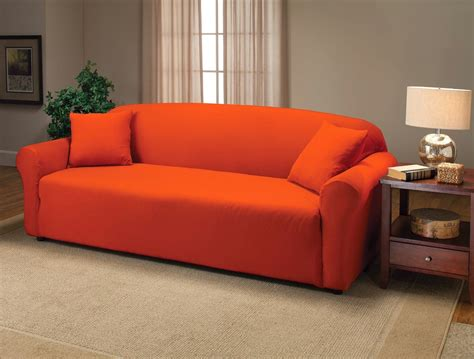 orange slipcover orange couch orange couch cover