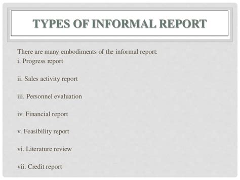 Formal Credit Report report writing types format structure and relevance