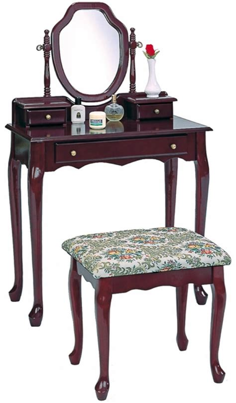 dressing table bench vanity bench set dark wooden dressing table stool 3441 coaster