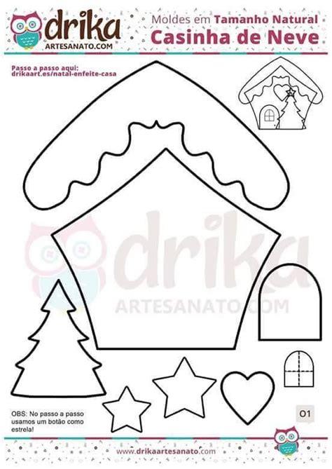 moldes navidenos en fieltro para imprimir moldes para hacer casas de jengibre en fieltro ideas de