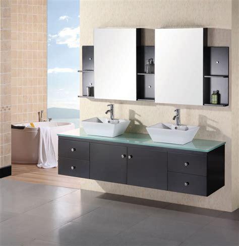 modern double vessel sink bathroom vanity