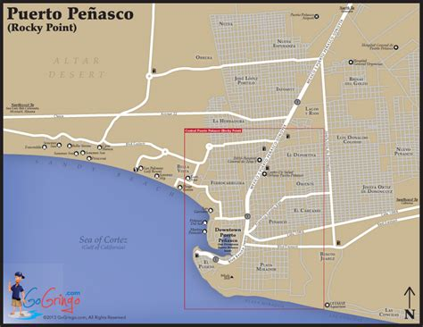 penasco map rocky point map rocky point driving directions go gringo