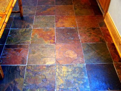 multicolor slate floor tile