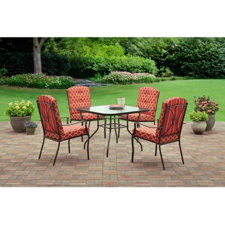 walmart patio dining sets mainstays ashwood heights 5 outdoor dining set