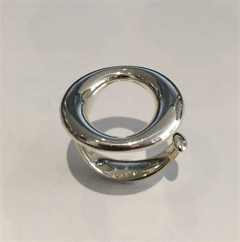 co sterling silver ring by elsa peretti size 6