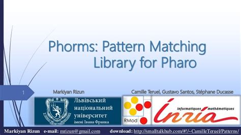 pattern matching library for c phorms pattern matching library for pharo