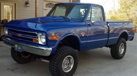 de truck 4x4 1968 blue chevy s10 truck the is