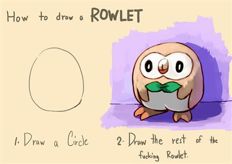 How To Draw An Owl Meme - how to draw a rowlet how to draw an owl know your meme