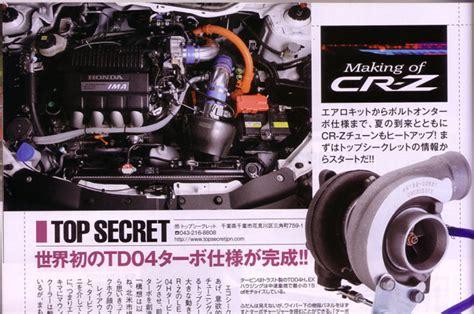 honda cr  turbo kit  development  top secret