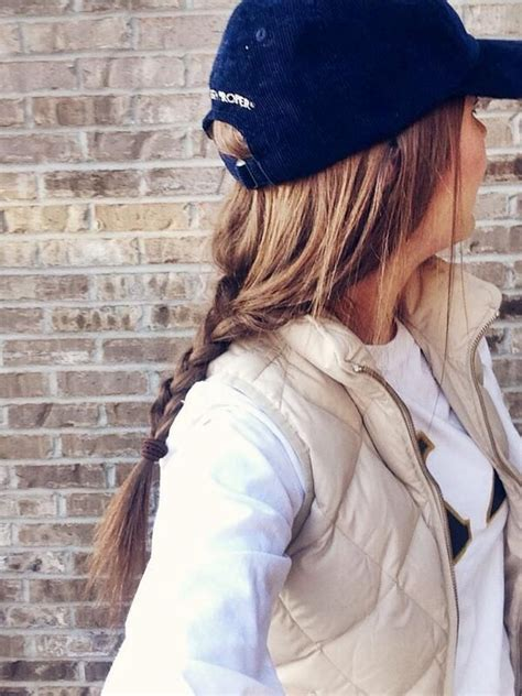 wear a hat with braids baseball cap with braid my style pinterest