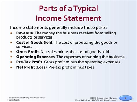 list the four sections of an income statement income statements cash flow