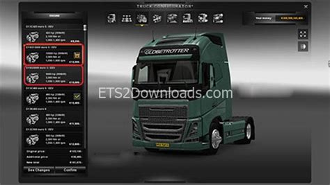 volvo fh16 engine free ets2 mods 10000 5000 engine for volvo fh16