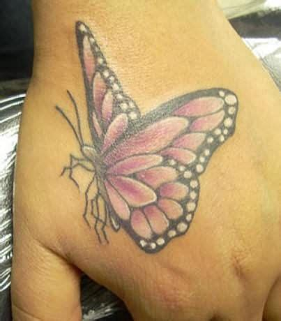 butterfly finger tattoo colorful butterfly on