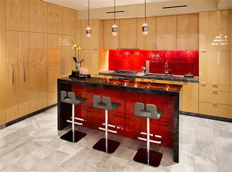 red glass tile kitchen backsplash kitchen backsplash ideas a splattering of the most