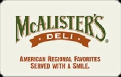 Mcallister Place Gift Cards - buy mcalister s deli gift cards at a discount giftcardplace