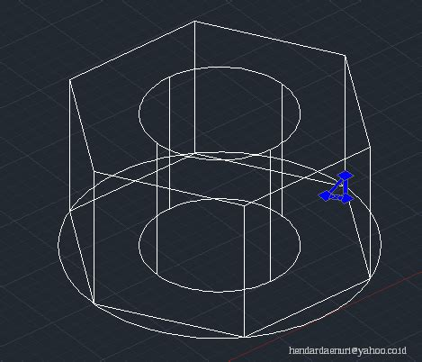 cara membuat gambar baut 3d di autocad tutorial autocad cara membuat mur baut di autocad 2010