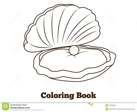 coloring book free vector oyster holding pearl vector