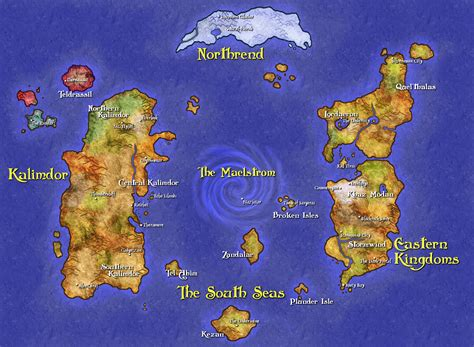 wow map greywolf s world of warcraft fan site travel
