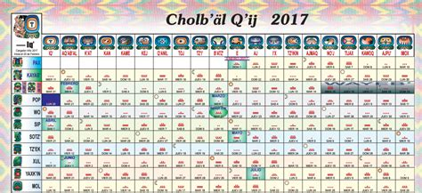 Calendario Gregoriano 2017 Cholb 180 228 L Q 180 Ij 2017 Calendario Alianza Anahuaca