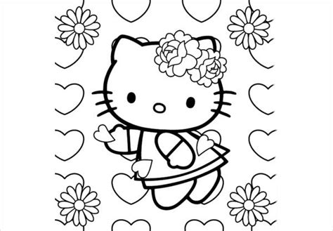 hello kitty coloring pages spring 10 spring coloring pages jpg download