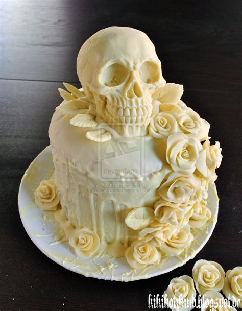 Hochzeitstorte Totenkopf by Our Skull Wedding Cake By Dwellicious On Deviantart