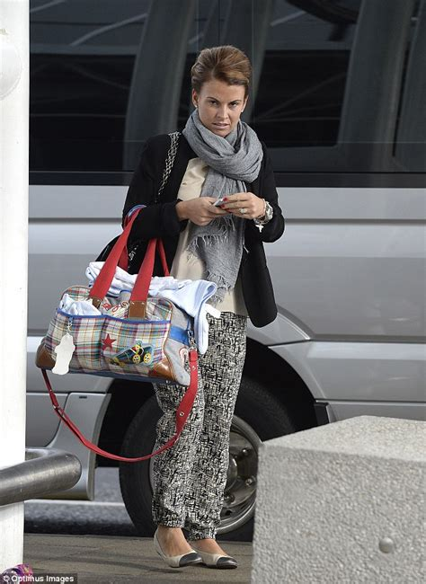 United Extra Baggage Coleen Rooney Heads To Barbados With Six Trolleys Full Of