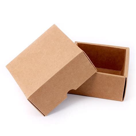 Paper Folding Box - brown kraft paper folding hat covered gift box esgreen