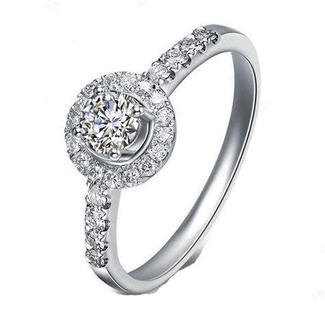 halo engagement ring on 9ct white gold jeenjewels