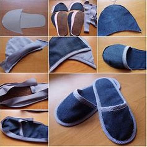 How To Sew Rugs Together Recycled Old Jeans Into Stylish Shoes Recycled Things