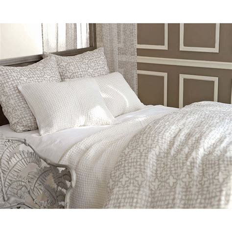 pine bedding seychelles dove white quilted bedding design by pine cone