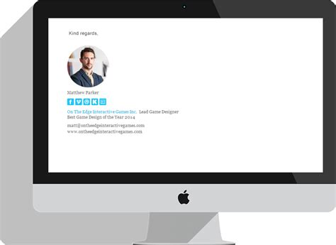 email design mockup make your own custom html email signature with email