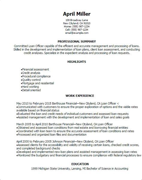 loan officer resume the best letter sle