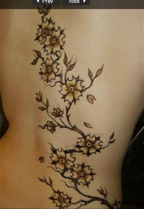 cherry blossom henna tattoo leg tatoo branch flowers vine inspiration and
