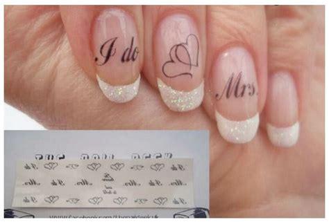 Nagel Aufkleber Hochzeit by Wedding Nails Stickers Wedding Ideas Pinterest