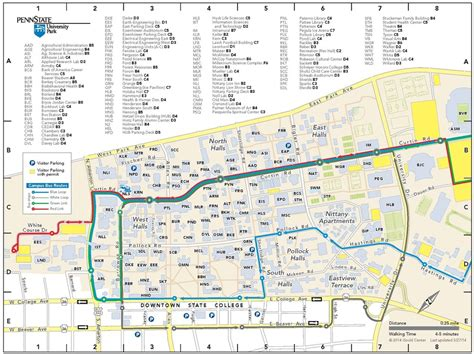 psu parking map gould center releases 2014 2015 updates to cus maps