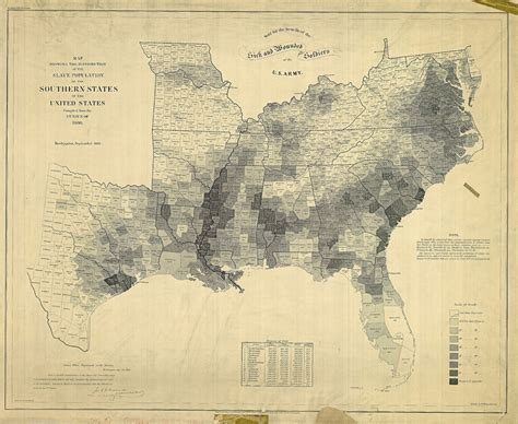 american census map the distribution of slavery in the us in 1860 map the