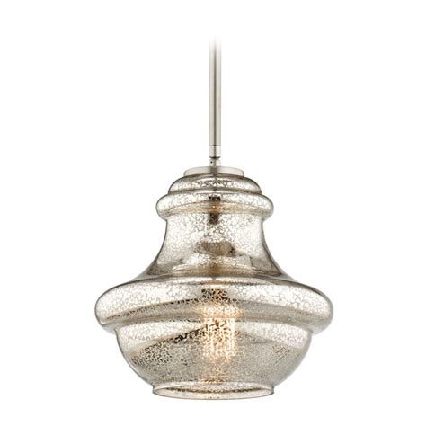 Kichler Lighting Everly Kichler Lighting Everly Brushed Nickel Mini Pendant Light