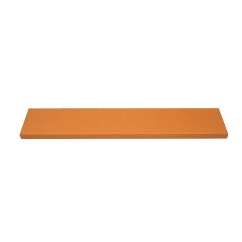 mensola tamburata mensola tamburata arancio 60x25 cm hxl spessore 38 mm