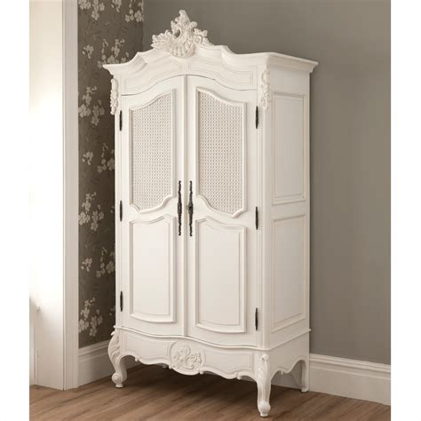 la rochelle 2 door antique rattan wardrobe