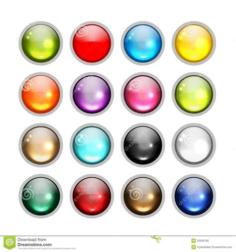 design icon button free set of glossy button icons for your design royalty free