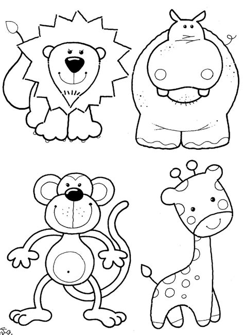 free printable animal coloring pages free safari sketches coloring pages
