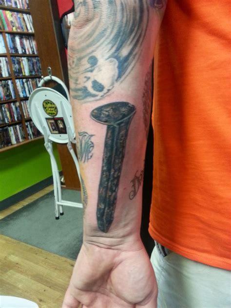 railroad spike tattoo ask for joker at 7sinstattoo com