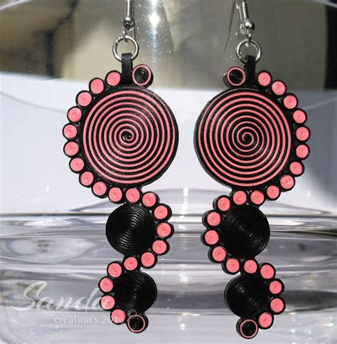 quilling earrings tutorial for beginning quilled earrings fancy yet light on your lobes paper