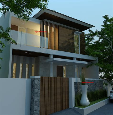 layout villa minimalis desain villa minimalis renovasi fasad