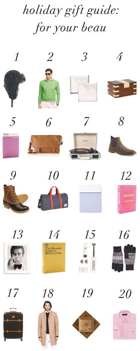 holiday gift guide for your beau design darling