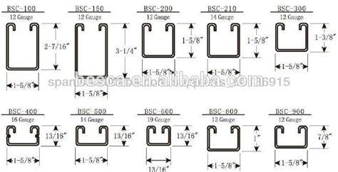 rsc section sizes hot dip galvanized steel plain strut channel and unistrut