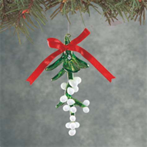 Home Decorating Photos Glass Mistletoe Christmas Ornament