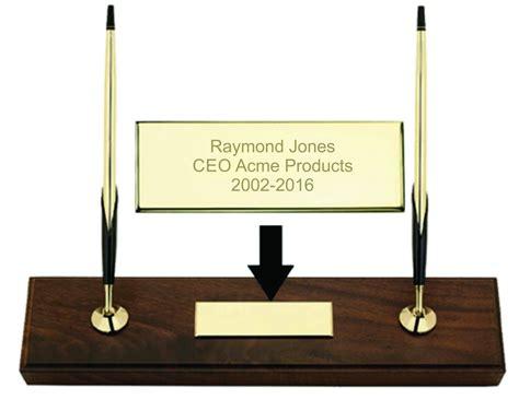 desk pen sets engraved personalized engraved cross walnut base desk pen