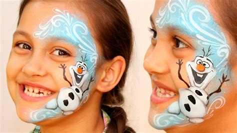 frozen olaf the snowman disney character face quot frozen quot olaf the snowman makeup face painting