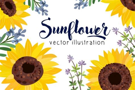 Sunflower Pattern Coreldraw | sunflower free vector download 230 free vector for